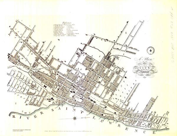 centre d 39 archives de vaudreuil soulangesa presqu 39 le plan de montr al 1823. Black Bedroom Furniture Sets. Home Design Ideas